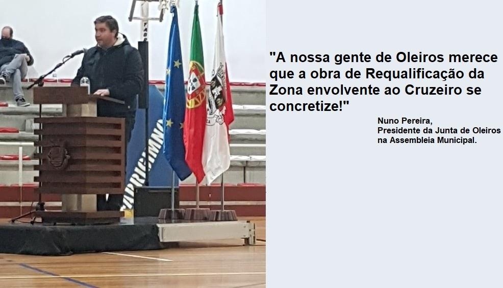 Assembleia Municipal aprova apoio financeiro para requalificação da zona envolvente ao Cruzeiro de Oleiros: Largo de Santo Adrião e Senhor da Paz.